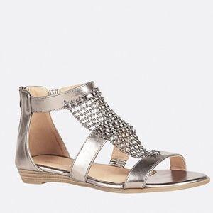 Avenue Mesh Stone Gladiator Sandal Size 8W